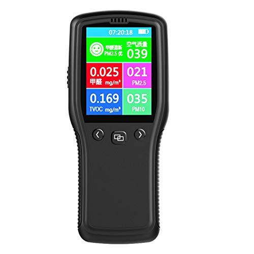 CHENG PM2.5 Detector de Aire Monitor de Calidad, precisa Aire Detector Digital Appliance Testing para la Supervisión de formaldehído Interior Usos Inicio