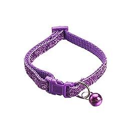 halotiky Adjustable Cat Accessories Pet Supplies Buckle Bell Pendant Dog Collar Kitten Necklace Cat Collars