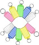 LATRAT - Lote de 20 etiquetas para llaves, llavero, etiquetas, de plástico con anilla para llaveros, colores surtidos, para marcar llaves, maletas, bolsos, animales de compañía, 5 colores