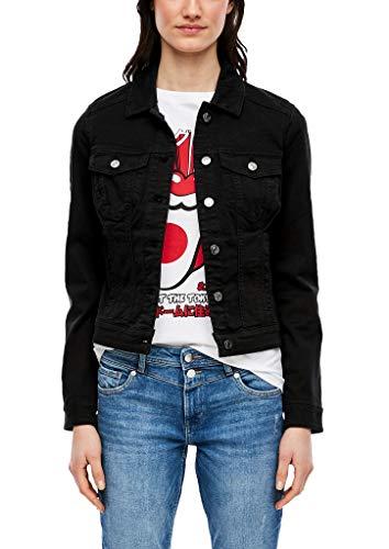 s.Oliver Jacke Langarm Chaqueta de jean, 9999 negro, XS para Mujer