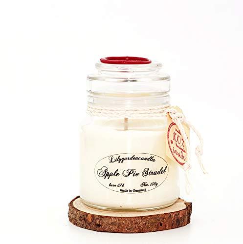 Lilygardencandles Apple Pie Strudel - Vela aromática (37 Horas de Tiempo de combustión, 130 g de Cera de Soja)