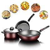 Utensilios de cocina antiadherentes de 3 piezas sin PTFE/PFOA/PFOS Utensilios de cocina resistentes al calor, cocina versátil y apta para lavavajillas