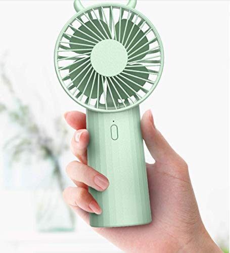 Mini Ventilador Portatilusb Small Fan Mini Silent Handheld Electric Fan Portable Portable Small Electric Hand-Held Student Rechargeable Dormitory Large Wind Office Table Cute Desktop Bed Battery