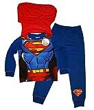 Pijama infantil de Superman con capa. Talla: 2-8 años Azul Nuevo Superman Azul 3-4 Años