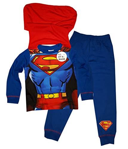Jungen Superman Neuheit Pyjama Mit Cape 2-8 Jahre