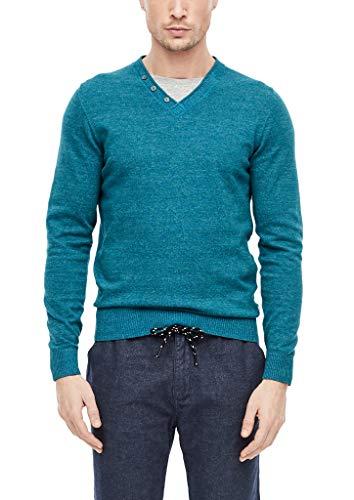 s.Oliver Herren 28.912.61.6882 Pullover, Turquoise Melange, X-Large (Herstellergröße: XL)