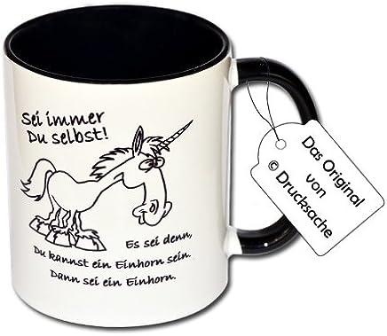 """Preisvergleich für Funtasse Motivtasse Tasse mit Aufdruck Einhorn """"Sei immer Du selbst! Es sei denn, Du kannst ein Einhorn sein. Dann sei ein Einhorn."""""""