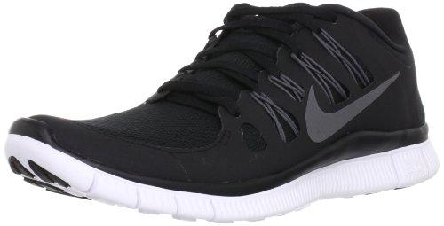 Nike Men's Free 5.0+ Breathe Running Black / Metallic Dark Grey / White Synthetic Shoe - 9.5 D(M) US
