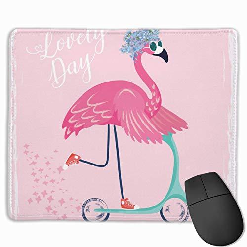 Gaming Mouse Pad, personalisierte benutzerdefinierte Maus Padnon-Slip Gummi Gaming Mouse Pad, bleiben Sie positiv Arbeiten Sie hart und lassen Sie es passieren Sweet Bird mit Scooter