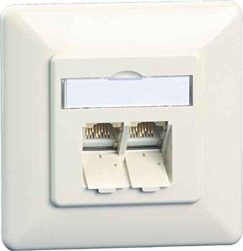 Preisvergleich Produktbild Unbekannt Metz Connect Anschlussdose C6A UP TN EDATC6A-2UP-rws 2xRJ45, UP, rws Kommunikationsanschlussdose Kupfer 4250184138570