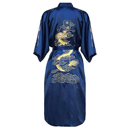 Chinese Nachtjapon Nachthemd Traditionele Nachtkleding Kimono Badjas Homewear Sexy Vrouwen Borduren Dragon Gewaden Plus Maat 3Xl