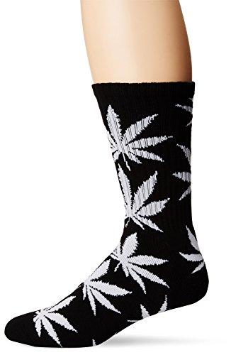 HUF Herren Plantlife Crew Socken, schwarz, Einheitsgröße