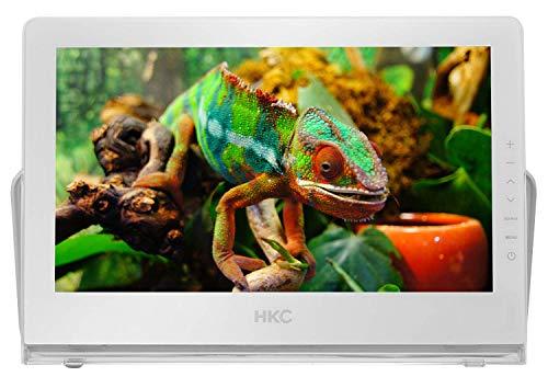 HKC P13H6 tragbarer Mini-Fernseher (13 Zoll Full HD TV) HDMI+USB, 60Hz, Mediaplayer, eingebauter Akku, 12V Kfz-Ladegerät, tragbare Antenne
