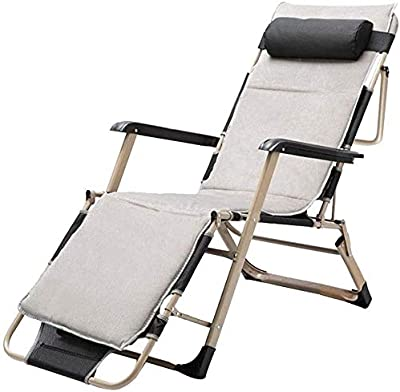 HZC Rocking Chair Adjustable Leisure Recliner with Padded Headrest Folding Rocking Patio Recliner Lounger Chair Outdoor Interiors Reclining Sun Lounger (Color : 1)