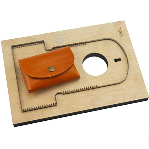 WellieSTR DIY Leather Craft Card Holder Coin Bag Knife Mould die Cutter Hand Punch Tool Pattern,DIY Leather Laser Knife die(with Hole)