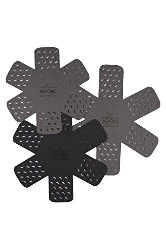 All-Clad, 3-Piece Set cookware protectors, Black/Grey, 3 Count