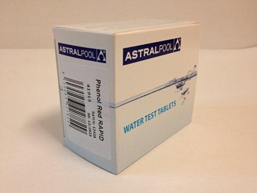 Reactivos Phenol Red de AstralPool Para Medición del pH (caja de 250 reactivos)