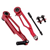 SM SunniMix Freno A V Regolabile Bicicletta Pieghevole MTB Set di Freni per Bicicletta A Braccio Corto E Lungo 1 Paio - Lungo Braccio Rosso