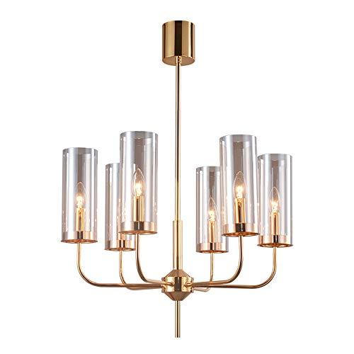Grote moderne hanglamp transparant creatief van kristal creatieve lotusbloem kaars cilinder blauw lampenkap verlichting lamp restaurant woonkamer Gouden