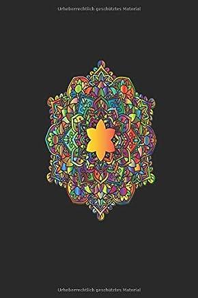 NOTIZBUCH: Kariertes Notizbuch oder Notizheft für Mandala Freunde !! Tolles Journal. Auf 120 weißen karierten Seiten eintragen was ihr wollt. Skizzen ... Kariert 6x9 Format. Motiv buntes Mandala