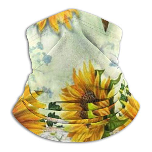 Love Sunflowers Unisex Fleece Neck Warmer Face Warmer Tube Neck Scarf Neck Gaiters