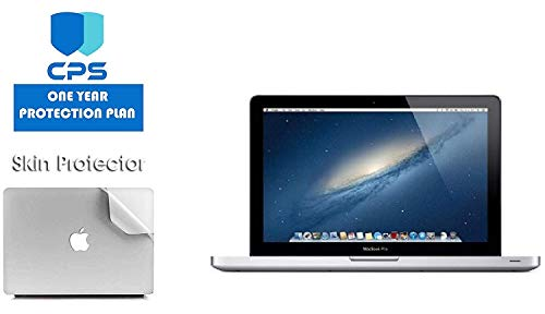 Apple MacBook Pro MD101LL/A - 13.3' Laptop Bundle - 2.5Ghz Intel i5, 16GB RAM, 512GB SSD, DVD Drive - (Bundle Includes: Pre-Applied Protective Skin + 1 Year CPS Limited Warranty) (Renewed)