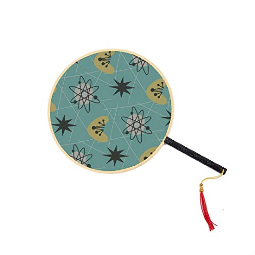 WYYWCY Mitte des Jahrhunderts Moderne Muster 1950 S chinesische alte Fan Classic Palace Paddle Fan Tanz Fan Handfächer für Frauen eine Hand Fan süße chinesische Fan Fan Hand Männer