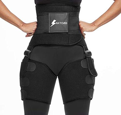 Live Well Snatched Waist Trainer Detox Sauna Suit, Full Body, Bundled with Arm & Thigh Trimmers