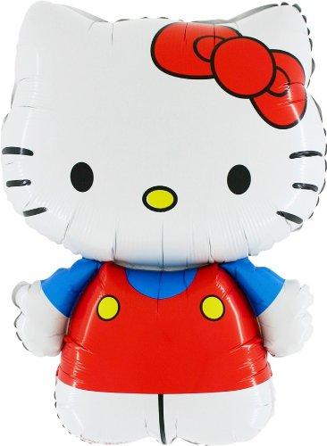 30 Pulgadas Hello Kitty vestida de globo de la hoja de rojo/azul (CS134)