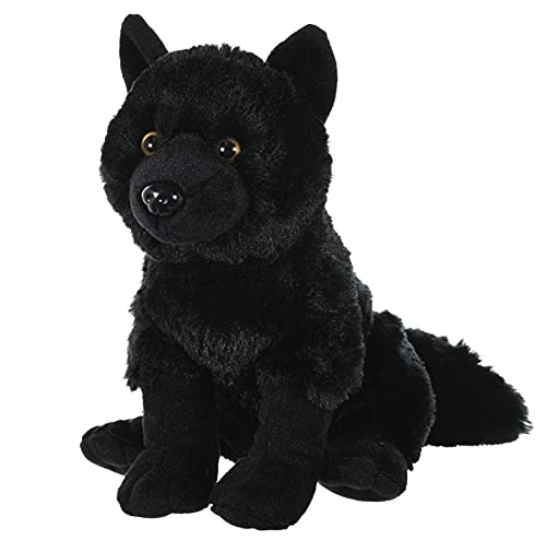 Wild Republic 23075 cuddlekins wolf black Stuffed Animal Plush Toy