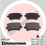 Zimmermann 23914.170.1 Serie Pastiglie Freno, Posteriore, 8 Molle con Predisposizione Sensori, Inclusa Piastra Smorzante, Incluse Accessori