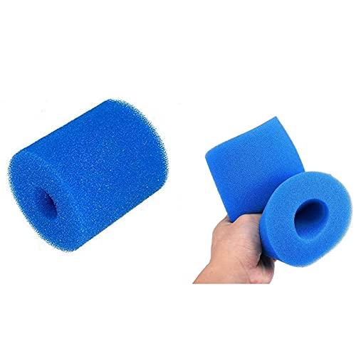 KHDFID Esponja de filtro de piscina para filtro Intex tipo H, reutilizable, lavable, cartucho de repuesto para piscina (12 unidades)