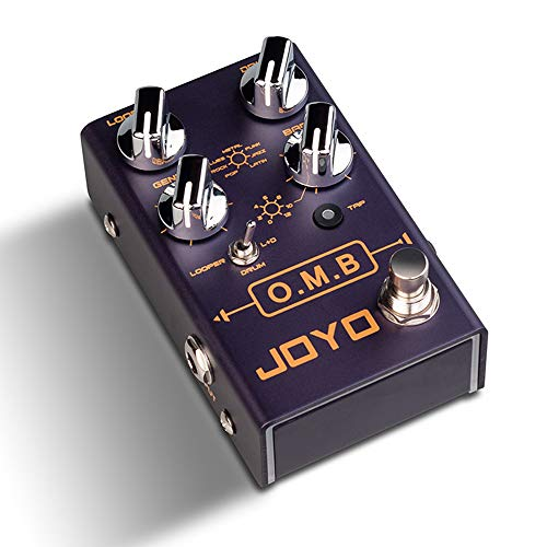 JOYO R-06 OMB LOOPER + Drum Machine Looper Pedal Effect with TAP TEMPO Multi Pedal Effect for Electric Guitar True Bypass