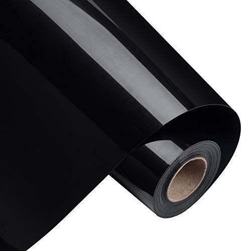BENECREAT 5mx30cm Rollo de Vinilo de Transferencia de Calor Negro Papel de Transferencia para Camisetas Ropa Sombreros Bolsos y la Mayoría de Las Superficies Textiles