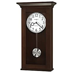 Howard Miller Braxton Wall Clock 625-628 – Black Coffee with Quartz, Single-Chime Movement