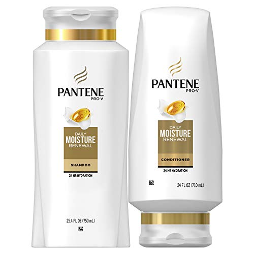 Pantene Moisturizing Shampoo and Conditioner for Dry Hair Daily Moisture Renewal Bundle Pack Bundle