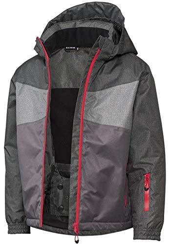 Crivit Jungen Schneejacke Skijacke Snowboadjacke Wasserabweisend Winddicht Schneefang mit Antiruschgummi (122-128, Anthrazit)