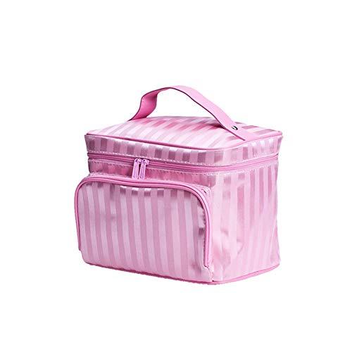 AEF Voyage Maquillage Cosmétique Organisateur Pochette pour Femmes Portable Brosses Voyage Kit Trousse Toilette, Grand Cosmétique Organisateur,Rose