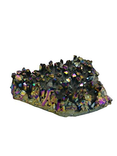 Crystal Cave Titanium Rainbow Aura Quartz Druzy Stone 127 gram Specimen Collector