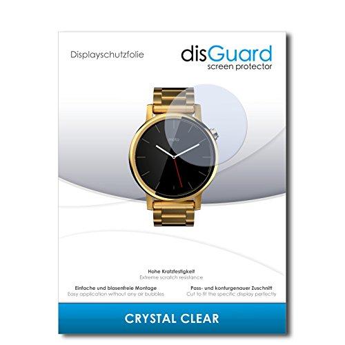 disGuard Displayschutzfolie für Motorola Moto 360 (2015) 42mm [2 Stück] Crystal Clear, Kristall-klar, Unsichtbar, Extrem Kratzfest - Displayschutz, Schutzfolie, Glasfolie, Panzerfolie