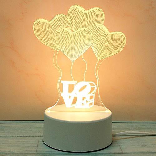 Tafellamp USB nachtlicht 3D LED lamp slaapkamer decoratie paar verjaardagscadeau voor kinderen