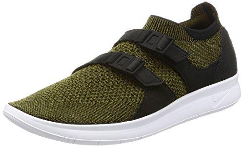 Nike Air Sockracer Flyknit Hombres Running 898022 Sneakers Turnschuhe (UK 6 US 7 EU 40, Black Olive White 002)