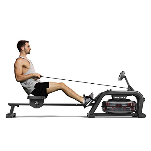 Murtisol Water Rowing Machine with Water Resistance & Large LCD Monitor for Home Use Training Sports Exercise Equipment Fitness Indoor