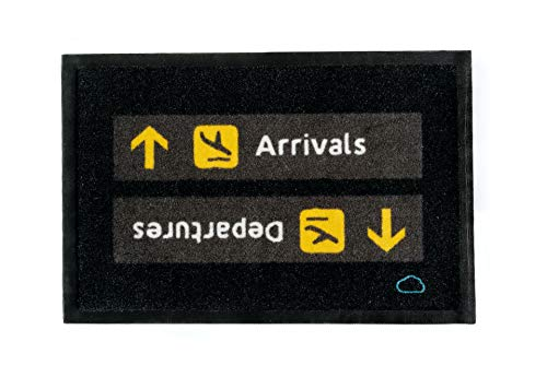 Felpudo Arrivals-Departures Aeropuerto Aviación MissWonderfly