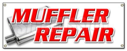 Muffler Repair Banner Sign Brake Shop auto Repair Oil Changes tire Repair Cars