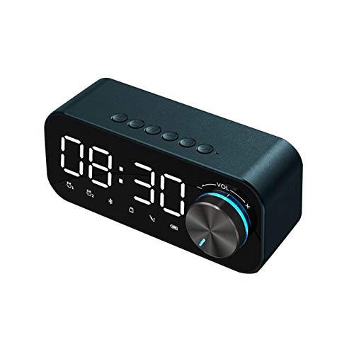mementoy Radiowecker Digitaler Wecker Radio Bluetooth Lautsprecher, LED-Anzeige, Batterie Mit Großer Kapazität, TF-Karte Unterstützen