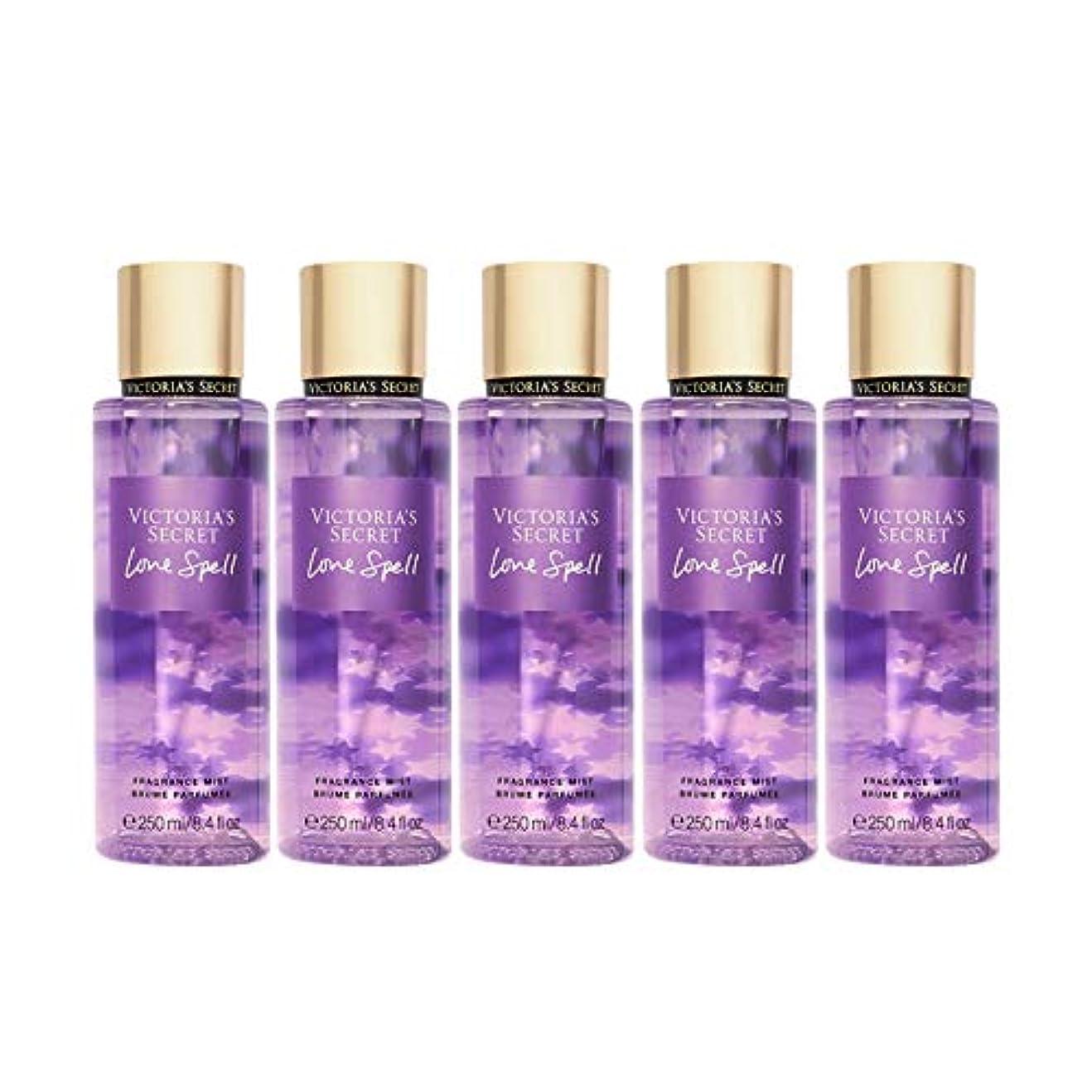 出席するソーシャル発信フレグランスミスト Victoria'sSecretFantasies FragranceMist ヴィクトリアズシークレット Victoria'sSecret (ラヴスペル/LoveSpell) 5本セット [並行輸入品]