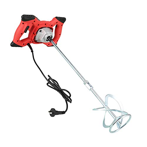 6 Speed Cement Stirrer, 2100w Plaster Plastering Mixer, Mixing Paddle Stirrer, Handheld Tool, Rotating Speed Adjustable for Mixing Plaster/Paint/Mortar/Glue/Adhesive