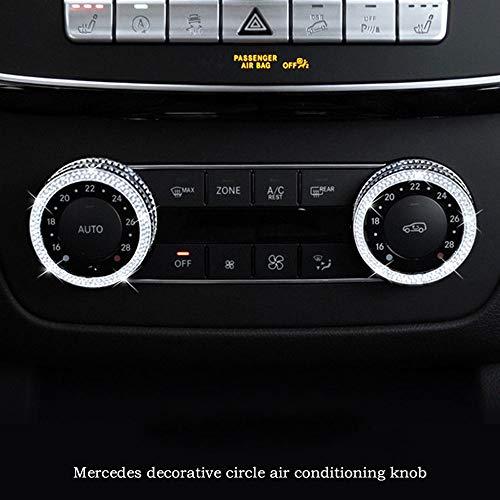 AUTO Pro - Pomo de aire acondicionado para Mercedes-Benz Clase A B GLK CLA GLE CLS GL grado Interior Modificado Botón Decorativo Diamante, Accesorios de Modificación Interior del Coche 1 Pieza Set