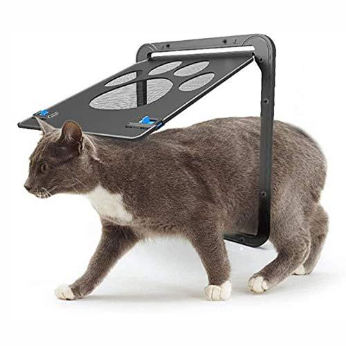 FGH Qplkkmoi Bildschirm Pet Tür, verschließbare Haustier-Schirm-Tür mit Magnetselbstschließfunktion, Fliegengittertür for Hunde & Katzen (Size : Small)